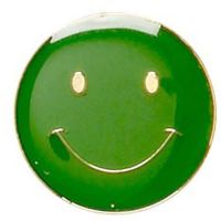 ButtonBadge20 Smile Green-SB001G